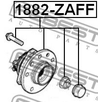 FEBEST   Главина на колелото 1882-ZAFF