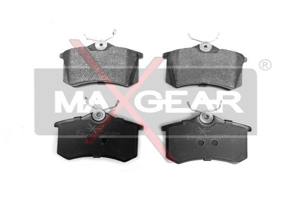 19-0428 MAXGEAR Hinterachse, nicht für Verschleißwarnanzeiger vorbereitet, mit Bremssattelschrauben Höhe: 53mm, Breite: 87mm, Dicke/Stärke: 17,2mm Bremsbelagsatz, Scheibenbremse 19-0428 günstig kaufen