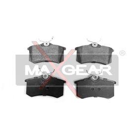 19-0428 MAXGEAR Hinterachse, nicht für Verschleißwarnanzeiger vorbereitet Höhe: 53mm, Breite: 87mm, Dicke/Stärke: 17,2mm Bremsbelagsatz, Scheibenbremse 19-0428 günstig kaufen