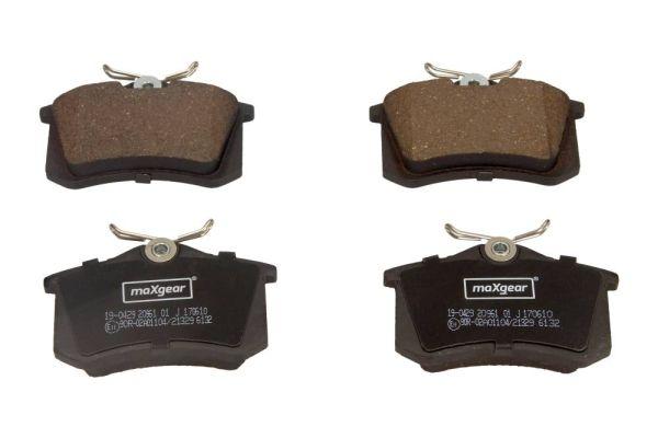 19-0429 Bremsbelagsatz, Scheibenbremse MAXGEAR Test