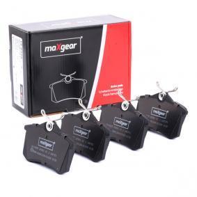19-0429 MAXGEAR Hinterachse, nicht für Verschleißwarnanzeiger vorbereitet, mit Bremssattelschrauben Höhe: 53mm, Breite: 87mm, Dicke/Stärke: 15,2mm Bremsbelagsatz, Scheibenbremse 19-0429 günstig kaufen
