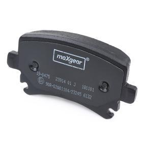 19-0475 Bremsbelagsatz, Scheibenbremse MAXGEAR - Markenprodukte billig