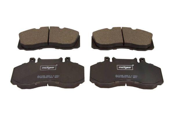 19-0895 MAXGEAR Vorderachse, für Verschleißwarnanzeiger vorbereitet Höhe: 85,5mm, Dicke/Stärke: 21,7mm Bremsbelagsatz, Scheibenbremse 19-0895 günstig kaufen