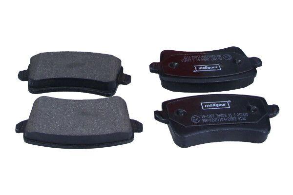 19-1997 MAXGEAR nicht für Verschleißwarnanzeiger vorbereitet, mit Zubehör Höhe: 59mm, Breite: 116,6mm, Dicke/Stärke: 17,7mm Bremsbelagsatz, Scheibenbremse 19-1997 günstig kaufen