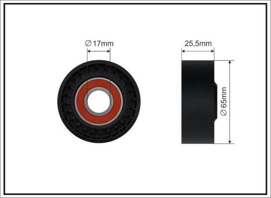 CAFFARO: Original Spannrolle Keilrippenriemen 191-00 (Breite: 25,5mm)