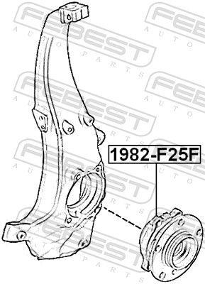 FEBEST | Главина на колелото 1982-F25F