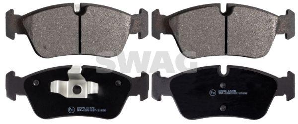 21925 SWAG Vorderachse, für Verschleißwarnanzeiger vorbereitet Breite: 57,6mm, Dicke/Stärke 1: 17,3mm Bremsbelagsatz, Scheibenbremse 20 91 6531 günstig kaufen