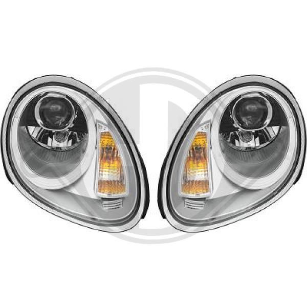 PORSCHE BOXSTER 2006 replacement parts: Headlight Set DIEDERICHS 2002585 at a discount — buy now!