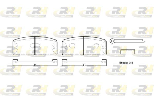 Achetez Kit de plaquettes de frein ROADHOUSE 2020.00 (Hauteur: 40,5mm, Épaisseur: 10,2mm) à un rapport qualité-prix exceptionnel