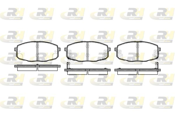 23988 ROADHOUSE Vorderachse, inkl. Verschleißwarnkontakt, mit Klebefolie, mit Zubehör Höhe: 58mm, Dicke/Stärke: 16,8mm Bremsbelagsatz, Scheibenbremse 21038.02 günstig kaufen