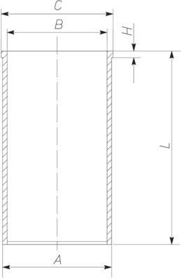 MAHLE ORIGINAL Canna cilindro per DAF – numero articolo: 213 WT 03 00