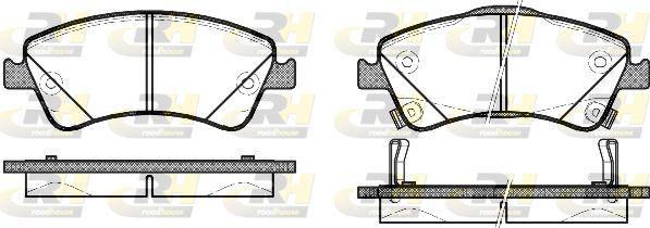 PSX2134102 ROADHOUSE Vorderachse, mit akustischer Verschleißwarnung, mit Klebefolie, mit Zubehör Höhe: 62,5mm, Dicke/Stärke: 19mm Bremsbelagsatz, Scheibenbremse 21341.02 günstig kaufen