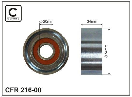 CAFFARO Rolka kierunkowa / prowadząca, pasek klinowy zębaty do MAN - numer produktu: 216-00