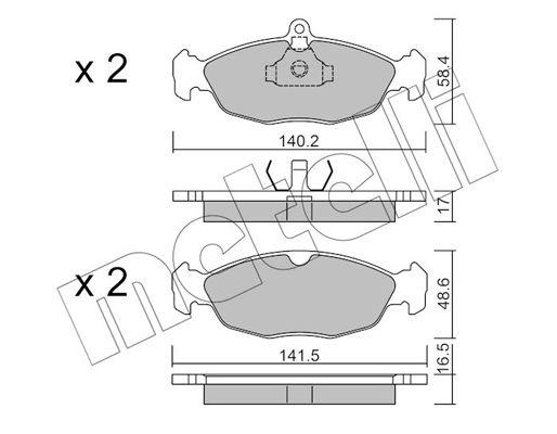 METELLI Brake Pad Set, disc brake 22-0077-0