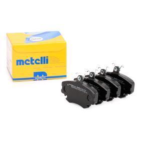 20772 METELLI für Verschleißwarnanzeiger vorbereitet Dicke/Stärke 1: 18,0mm Bremsbelagsatz, Scheibenbremse 22-0120-0 günstig kaufen