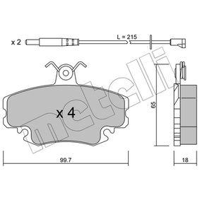 20937 METELLI inkl. Verschleißwarnkontakt Dicke/Stärke 1: 18,0mm Bremsbelagsatz, Scheibenbremse 22-0120-0K günstig kaufen