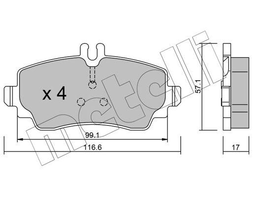 Bremsbelagsatz, Scheibenbremse METELLI 22-0310-0 Bewertungen