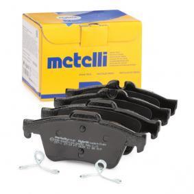 23482 METELLI exkl. Verschleißwarnkontakt, nicht für Verschleißwarnanzeiger vorbereitet Dicke/Stärke 1: 16,5mm Bremsbelagsatz, Scheibenbremse 22-0337-1 günstig kaufen