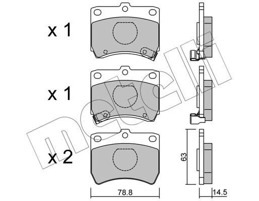 KIA PRIDE 2010 Bremsbelagsatz - Original METELLI 22-0370-0 Dicke/Stärke 1: 14,5mm