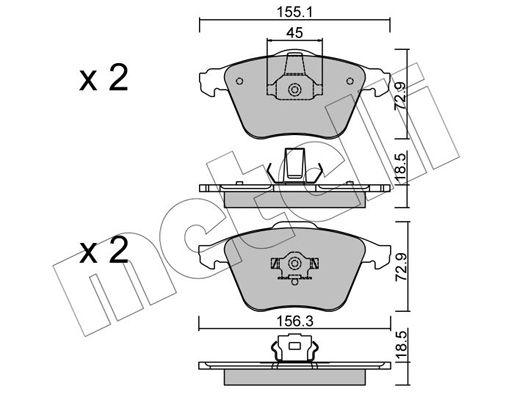 Bremsbelagsatz Scheibenbremse METELLI 22-0549-3