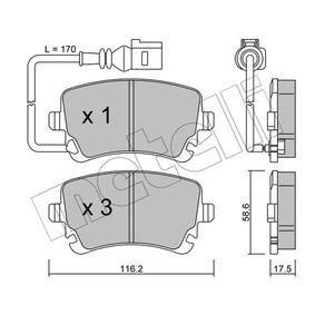 23882 METELLI inkl. Verschleißwarnkontakt Dicke/Stärke 1: 17,5mm Bremsbelagsatz, Scheibenbremse 22-0554-0 günstig kaufen