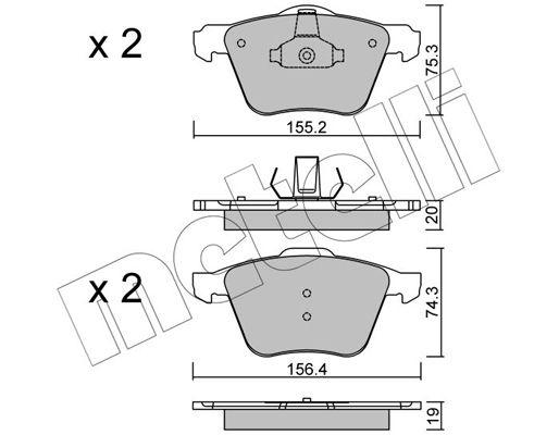 Bremsbelagsatz METELLI 22-0599-1