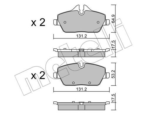 Brake pad set 22-0664-0 METELLI — only new parts