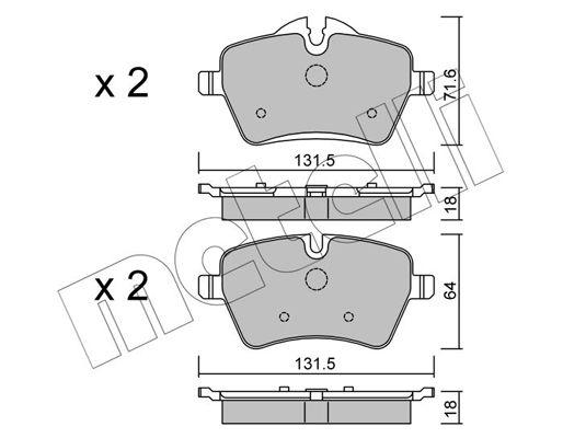 Bremsbelagsatz METELLI 22-0768-0