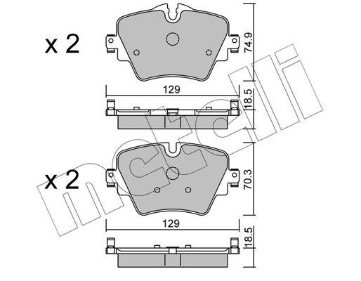 Bremsbelagsatz METELLI 22-1037-0