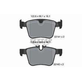 9057D1821 TEXTAR für Verschleißwarnanzeiger vorbereitet Höhe 1: 56,1mm, Höhe 2: 59,6mm, Breite: 122,6mm, Dicke/Stärke: 16,1mm Bremsbelagsatz, Scheibenbremse 2214101 günstig kaufen