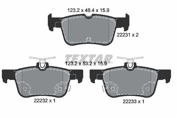 Bremsbelagsatz TEXTAR 2223101