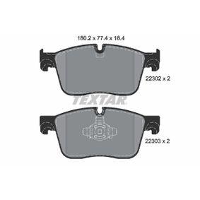 9090D1861 TEXTAR für Verschleißwarnanzeiger vorbereitet Höhe: 77,4mm, Breite: 180,2mm, Dicke/Stärke: 18,4mm Bremsbelagsatz, Scheibenbremse 2230201 günstig kaufen