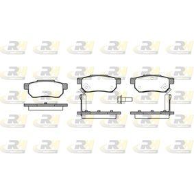 D3747233 ROADHOUSE Hinterachse, inkl. Verschleißwarnkontakt, mit Schrauben, mit Zubehör Höhe: 35,3mm, Dicke/Stärke: 13mm Bremsbelagsatz, Scheibenbremse 2233.02 günstig kaufen