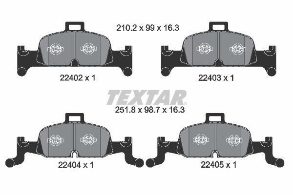 Bremsbelagsatz TEXTAR 2240201