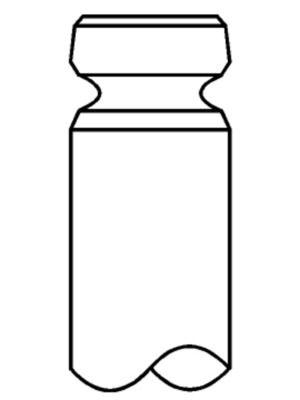 MAHLE ORIGINAL Inloppsventil till MAN - artikelnummer: 227 VE 31032 000