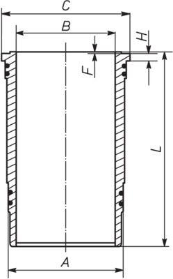 MAHLE ORIGINAL Cylinder Sleeve for MAZ-MAN - item number: 227 WN 37 00
