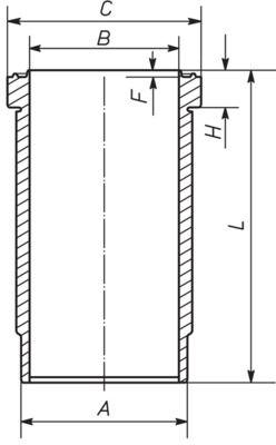 MAHLE ORIGINAL Cylinder Sleeve for FAP - item number: 227 WN 67 01