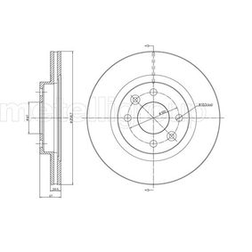 23-0549C METELLI belüftet, lackiert Ø: 259,0mm, Lochanzahl: 4, Bremsscheibendicke: 20,7mm Bremsscheibe 23-0549C günstig kaufen
