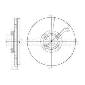23-0709 METELLI belüftet Ø: 314,0mm, Lochanzahl: 4, Bremsscheibendicke: 24,0mm Bremsscheibe 23-0709 günstig kaufen