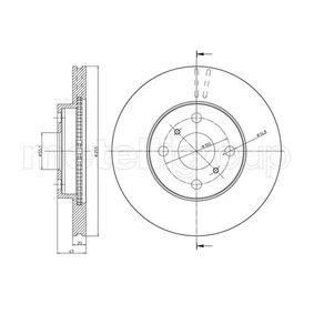 23-0717C METELLI belüftet, lackiert Ø: 255,0mm, Lochanzahl: 4, Bremsscheibendicke: 20,0mm Bremsscheibe 23-0717C günstig kaufen