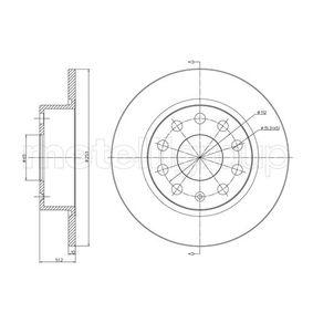 23-0724C METELLI Voll, lackiert Ø: 253,0mm, Lochanzahl: 5, Bremsscheibendicke: 10,0mm Bremsscheibe 23-0724C günstig kaufen