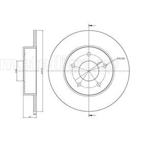 23-0762C METELLI Voll, lackiert Ø: 277,7mm, Lochanzahl: 5, Bremsscheibendicke: 10,0mm Bremsscheibe 23-0762C günstig kaufen