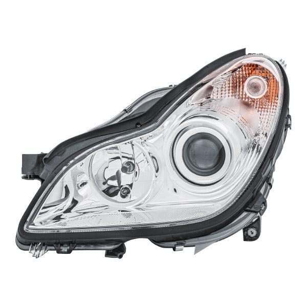 E11814 HELLA Vänster, H7/H7, PY21W, W5W, med glödlampor, med ställmotor för lysviddsreglering, glasklar, Halogen Vänster-/Högertrafik: för högertrafik Huvudstrålkastare 1EL 008 821-011 köp lågt pris