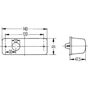 Sx HELLA 2BM 006 692-011 Indicatore direzione supplementare
