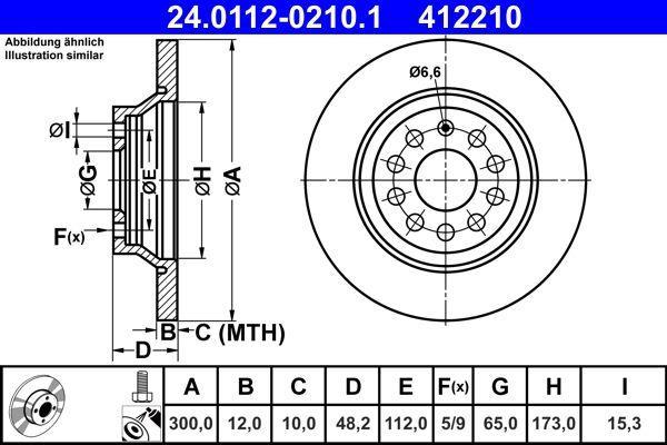 24.0112-0210.1 Zavorni kolut ATE - poceni izdelkov blagovnih znamk