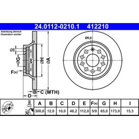 24011202101 Zavorni kolut ATE 24.0112-0210.1 - Ogromna izbira