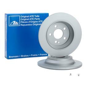 412213 ATE Voll, beschichtet, legiert/hochgekohlt, mit Schrauben Ø: 300,0mm, Lochanzahl: 5, Bremsscheibendicke: 12,0mm Bremsscheibe 24.0112-0213.1 günstig kaufen