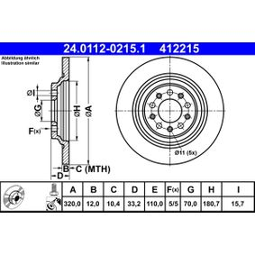 24011202151 Zavorni kolut ATE 24.0112-0215.1 - Ogromna izbira