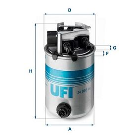 24.095.01 Filtro carburante UFI qualità originale