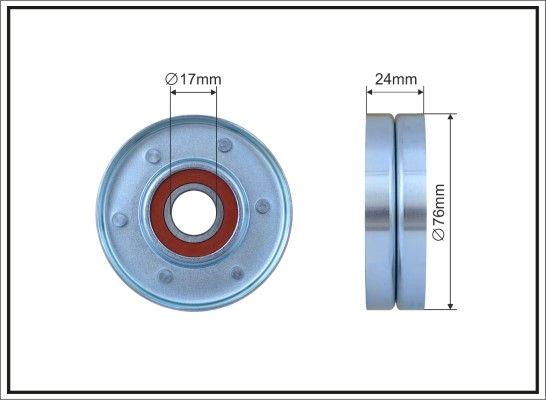 CAFFARO Rolka napinacza, pasek klinowy wielorowkowy do RENAULT TRUCKS - numer produktu: 240-00